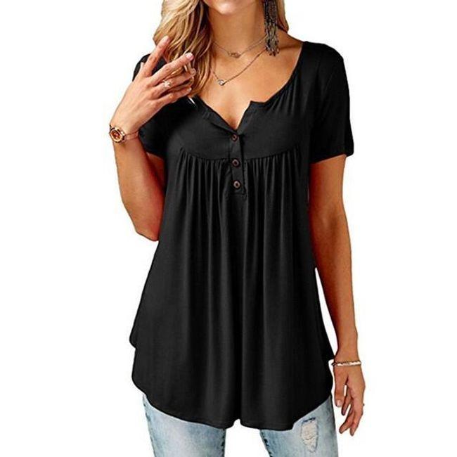 Ženska bluza Honore u plus veličinama - 10 boja 1