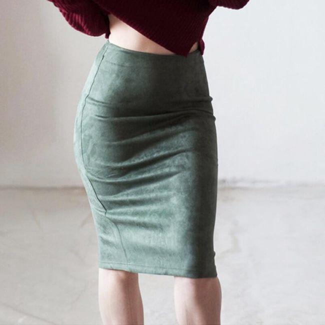 Luxusní semišová sukně na podzim a zimu - 10 barev 1