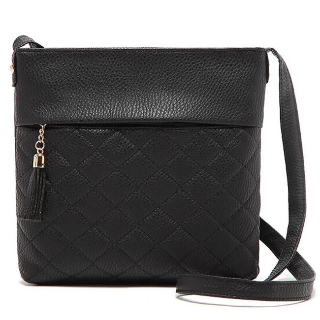 Dámská taška přes rameno v kostkovaném designu 1