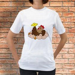 Tričko Slepice a kuřátko na vajíčkách