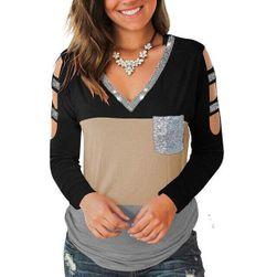 Ženska majica z dolgimi rokavi Fannie