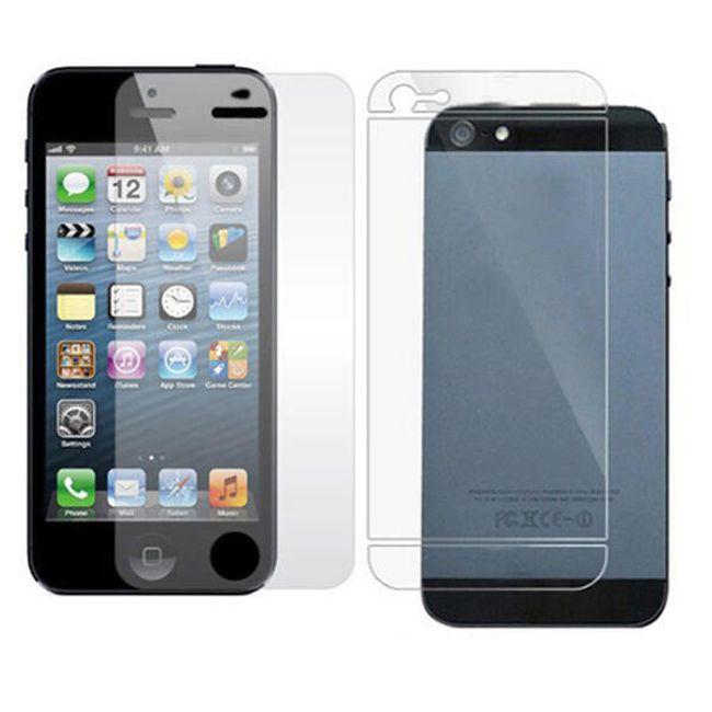 Ultra transparentní ochranná folie na iPhone 5 pro přední a zadní stranu  1
