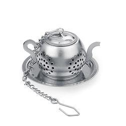 Sitko do herbaty na łańcuszku - w kształcie imbryczka