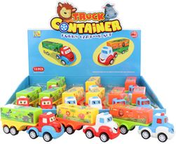Baby veselé autíčko plastové kamión s očami 14cm na zotrvačník rôzne druhy SR_DS13452673