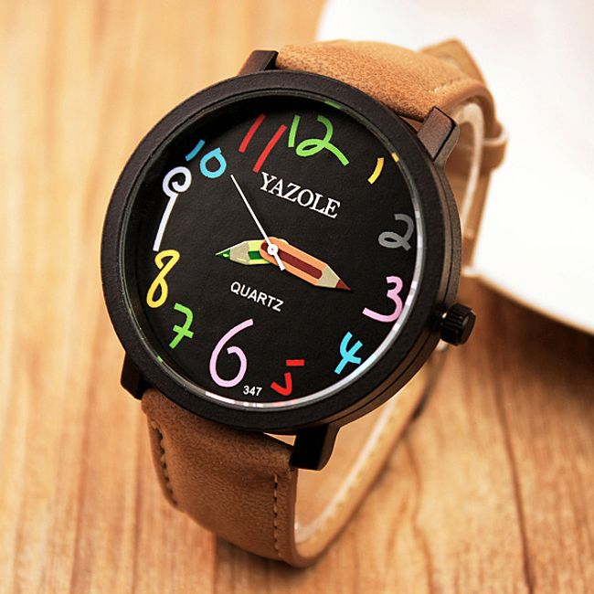 Uniseks ura z ročnimi barvicami 1