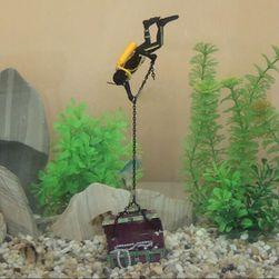 Декорация для аквариума- Драйвер с сокровищем
