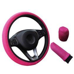 Комплект защитных чехлов на руль, ручку переключения КПП и ручку стояночного тормоза Tamon