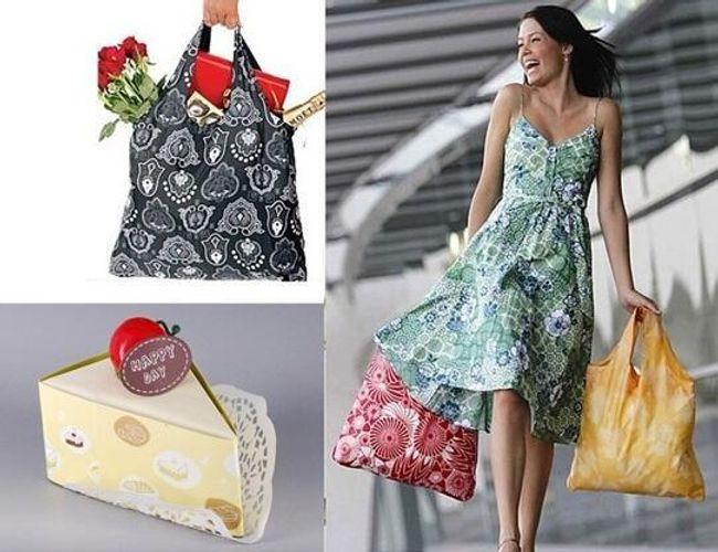 Skládací taška na nákup v dárkovém balení 1