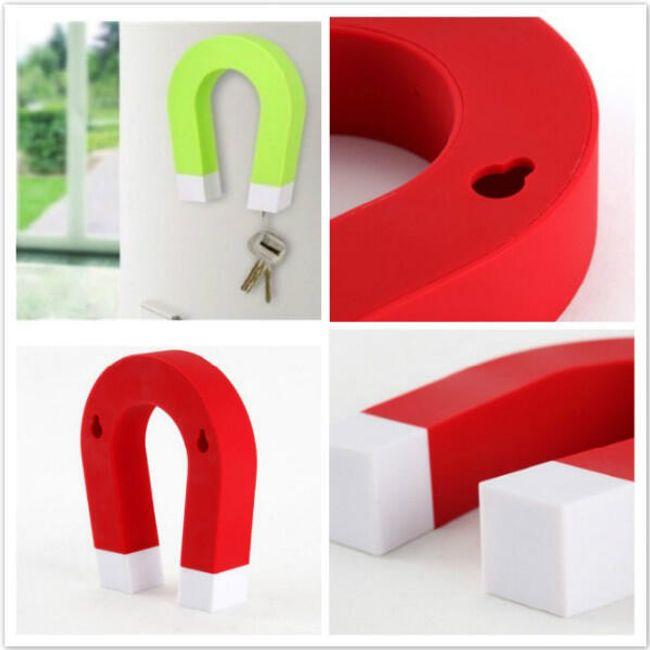 Magnetický držák na klíče ve tvaru podkovy - na výběr ze 4 barev 1