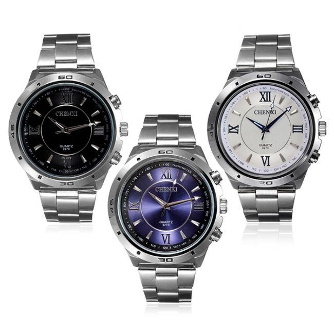 Stylové pánské hodinky s ciferníkem ve 3 barevných provedeních 1