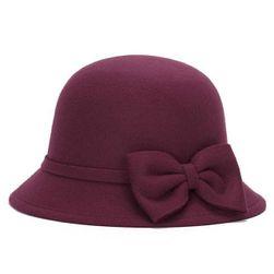 Zimski ženski klobuk s metuljčkom-6 barv