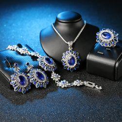 Set de bijuterii de culoare albastra