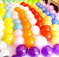 Komplet 10 szt. lśniących dekoracyjnych nadmuchiwanych balonów
