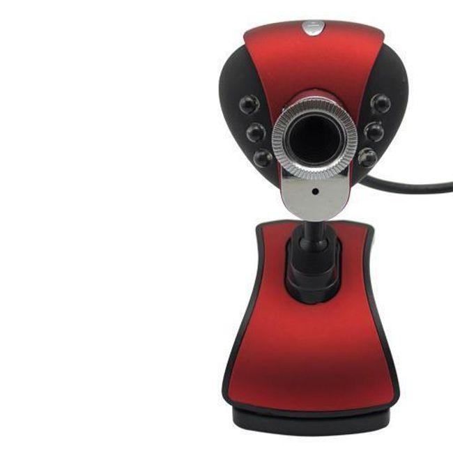 Nocna web kamera z mikrofonem i klipsem do przymocowania 1