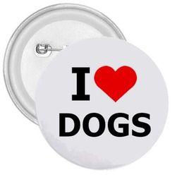 Kitűző I love dogs