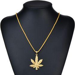 Łańcuszek z zawieszką w kształcie listka marihuany