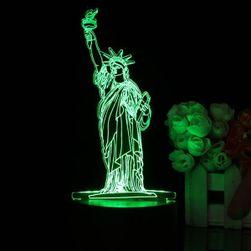 3D LED-es lámpa - Szabadság-szobor