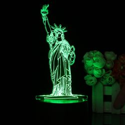 Lampa 3D LED - statuia libertatii