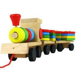 Tren din lemn pentru copii