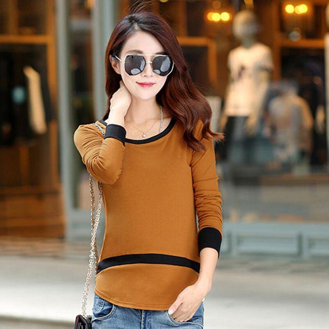 Dvoubarevné tričko - dlouhý rukáv 1