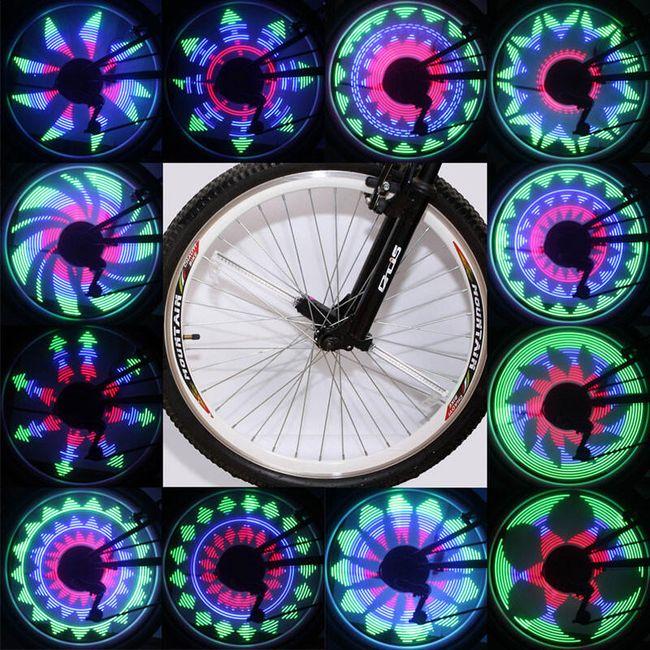 Zajímavé LED osvětlení na kolo měnící obrazce 1