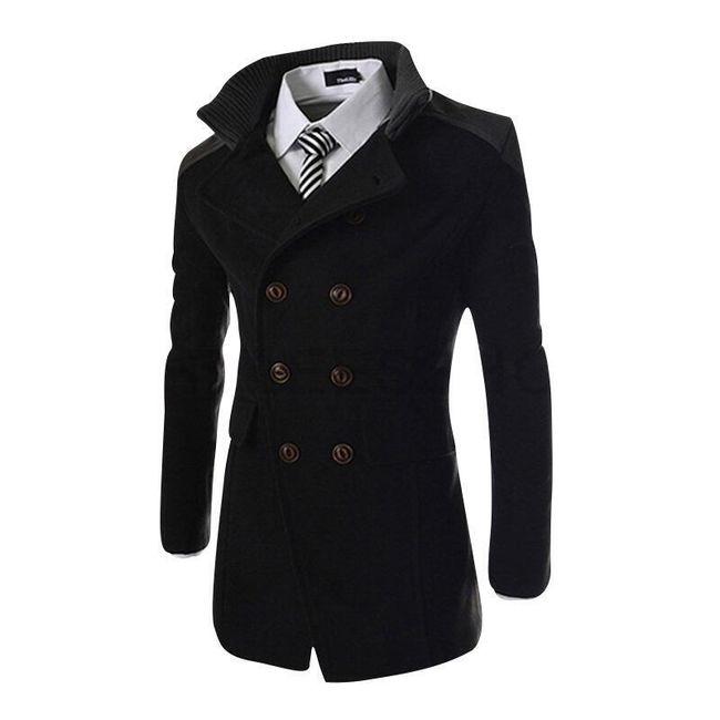 Pánský kabát v elegantním designu - Černá-M 1