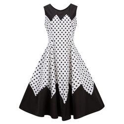 Retro šaty s puntíčky - 2 barvy