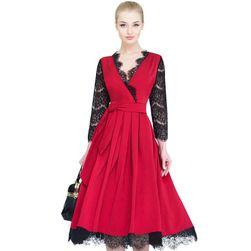 Dámské vintage krajkové šaty - 3 barvy