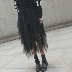 Длинная юбка из тюля