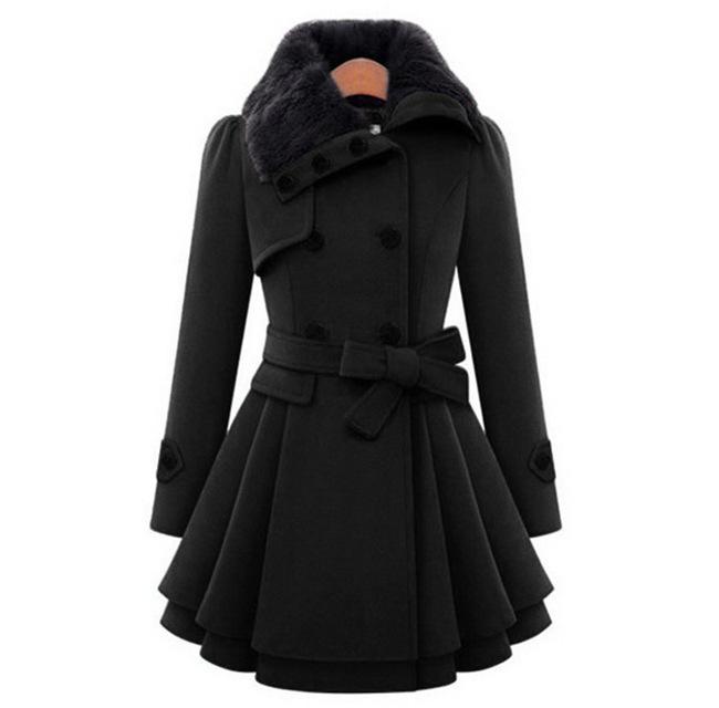 Dámský podzimní/jarní kabát Gabriele - Černá-velikost č. L 1