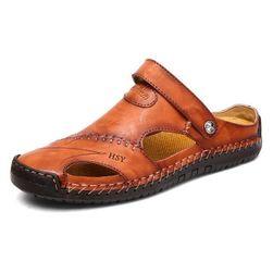 Pánské pantofle PP56 Hnědá - 12.5