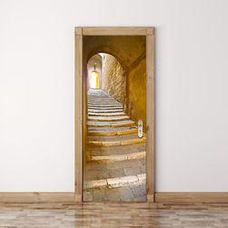 3D naklejka - kamienne schody