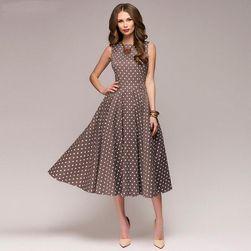 Винтажное женское платье в горошек- 3 цвета