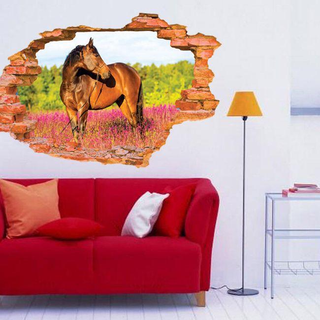 3D fali matrica - ló a legelőn 1