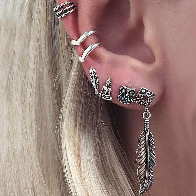 Sada orientálních náušnic na celé ucho 1