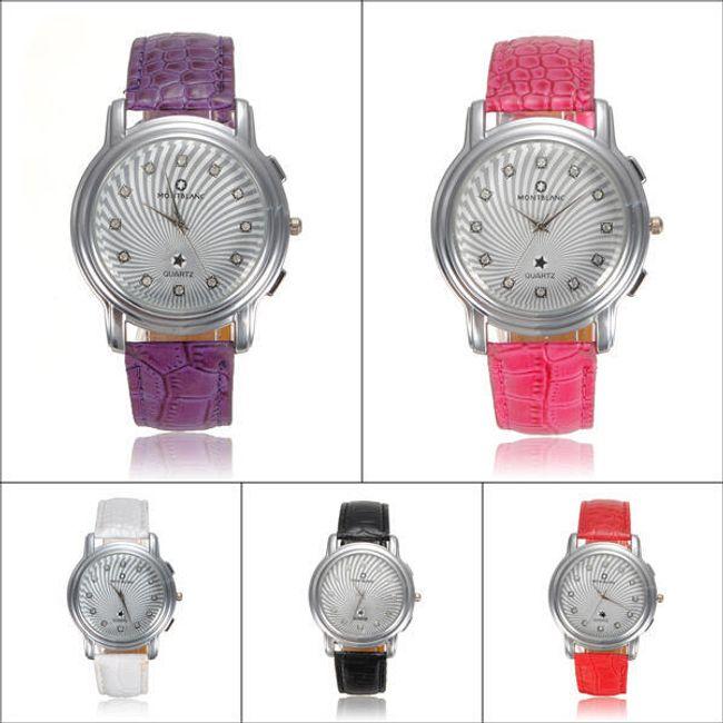 Dámské hodinky s krystalky a hadím páskem - 5 barev 1