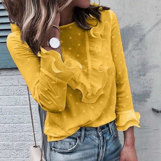 Damska bluzka z długim rękawem DT110 1