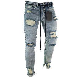 Erkek yırtık kot pantolon - 8 seçenek