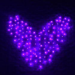 LED řetězec ve tvaru srdce