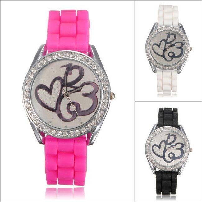 Dámské hodinky se silikonovým páskem ve 3 barvách 1