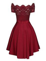 Společenské šaty s krajkou a mašličkou - 3 barvy