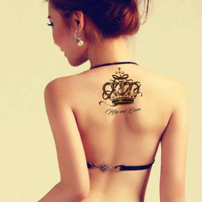 Začasna tetovaža - kraljevska krona 1