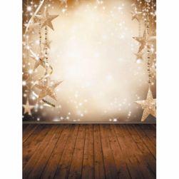 Vinylová fotostěna s vánočním motivem - hvězdy a vločky