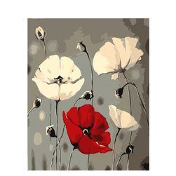 DIY obraz s květinami - 40x50 cm