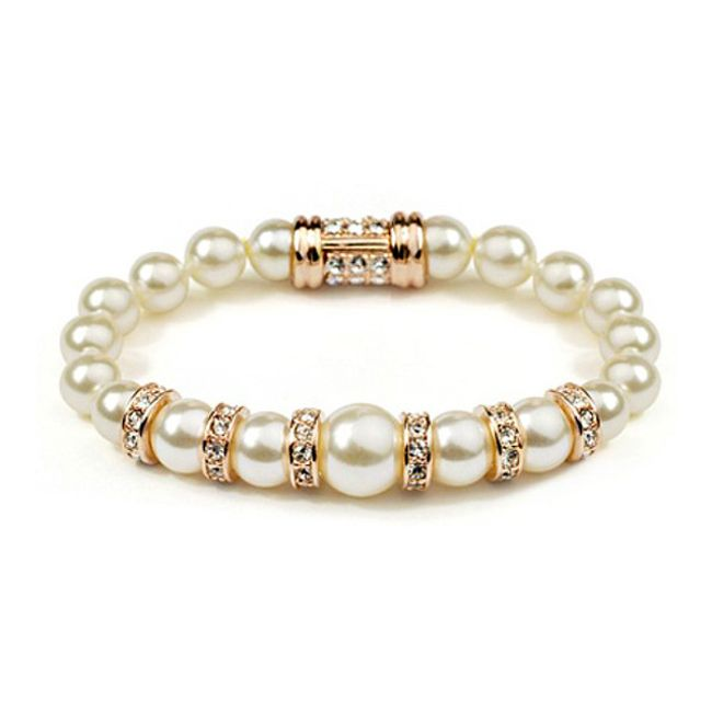 Náramek s perličkami a broušenými kamínky 1
