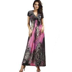 Dugačka haljina sa izrezom - 6 varijanti