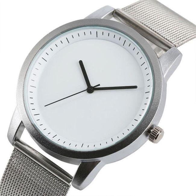 Unisex hodinky s bílým ciferníkem 1