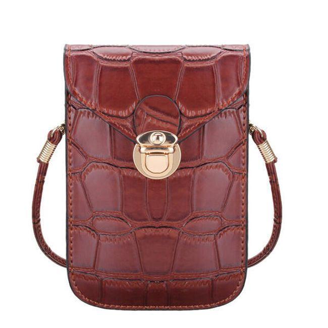 Женская сумка в дизайне крокодиловой кожи 1