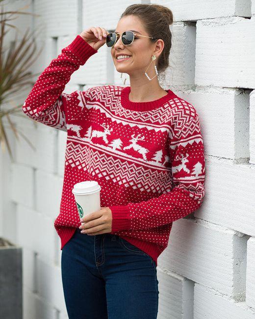 Női hosszú ujjú pulóver DS578