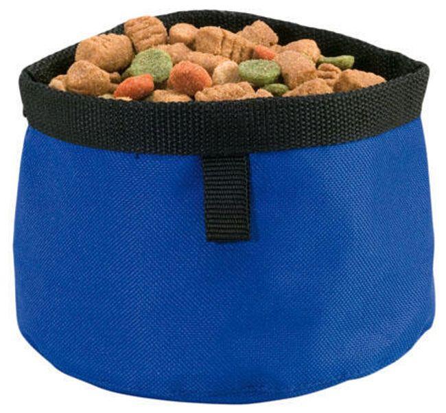 Podróżna miska dla psa - niebieska 1